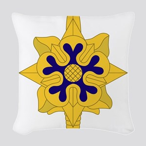 Military+Intelligence+Insignia Woven Throw Pillow
