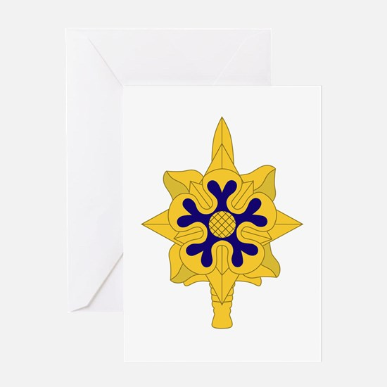 Military+Intelligence+Insignia Greeting Cards