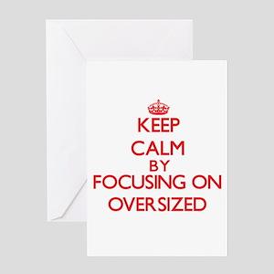 Oversized greeting cards cafepress keep calm by focusing on oversized greeting cards m4hsunfo