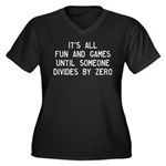 Fun And Game Women's Plus Size V-Neck Dark T-Shirt