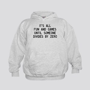 Fun And Games Divide By Zero Kids Hoodie