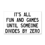Fun And Games Divide By Zero Rectangle Car Magnet