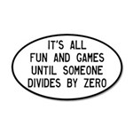 Fun And Games Divide By Zero 35x21 Oval Wall Decal