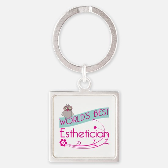 World's Best Esthetician Square Keychain