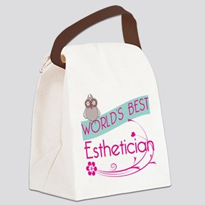 World's Best Esthetician Canvas Lunch Bag