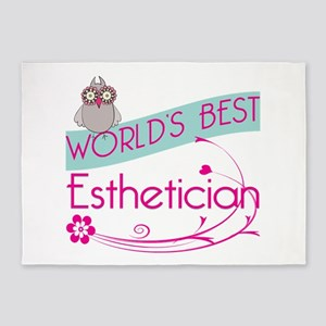 World's Best Esthetician 5'x7'Area Rug