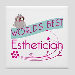 World's Best Esthetician Tile Coaster
