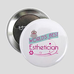 "World's Best Esthetician 2.25"" Button (10 pack)"