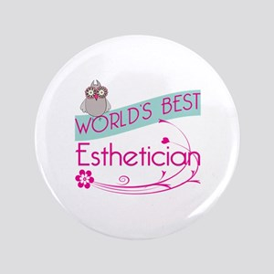 "World's Best Esthetician 3.5"" Button"
