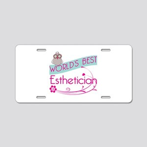 World's Best Esthetician Aluminum License Plate