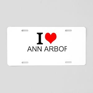 I Love Ann Arbor Aluminum License Plate