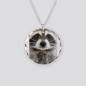 Raccoon Necklace Circle Charm
