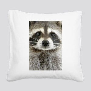 Raccoon Square Canvas Pillow