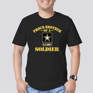 Proud Brother U.S. Arm Men's Fitted T-Shirt (dark)