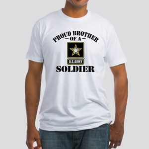 Proud Brother U.S. Army Fitted T-Shirt