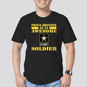 Proud U.S. Army Brothe Men's Fitted T-Shirt (dark)