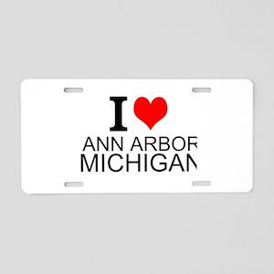 I Love Ann Arbor Michigan Aluminum License Plate