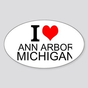 I Love Ann Arbor Michigan Sticker