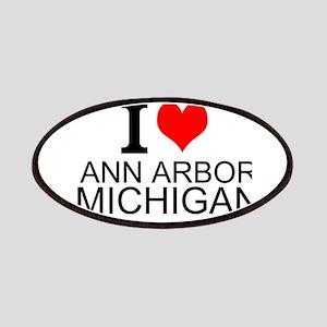 I Love Ann Arbor Michigan Patches