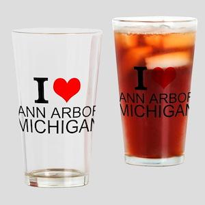 I Love Ann Arbor Michigan Drinking Glass