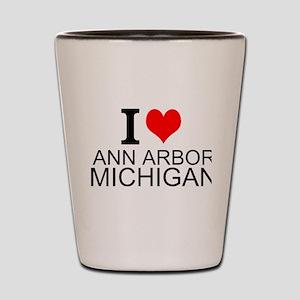 I Love Ann Arbor Michigan Shot Glass