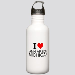 I Love Ann Arbor Michigan Water Bottle