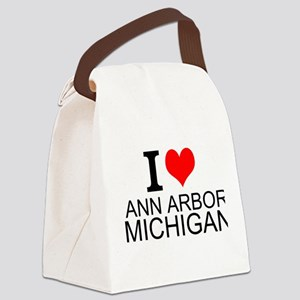 I Love Ann Arbor Michigan Canvas Lunch Bag