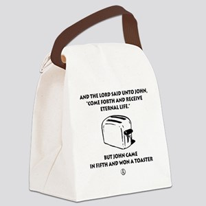 Won a Toaster (black) Canvas Lunch Bag