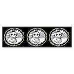 Skull Wheel - Abstract Bumper Sticker