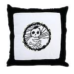 Skull Wheel - Abstract Throw Pillow