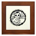 Skull Wheel - Abstract Framed Tile