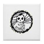 Skull Wheel - Abstract Tile Coaster