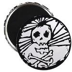 Skull Wheel - Abstract Magnet