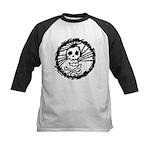 Skull Wheel - Abstract Kids Baseball Jersey