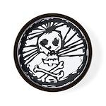 Skull Wheel - Abstract Wall Clock