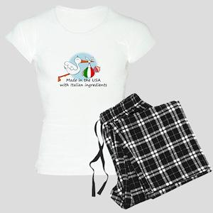 stork baby italy usa Women's Light Pajamas
