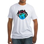 earth spider Fitted T-Shirt