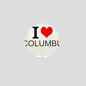 I Love Columbus Mini Button