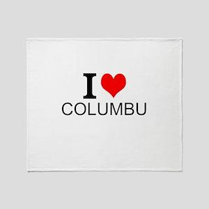 I Love Columbus Throw Blanket