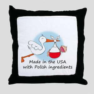 stork baby pl 2 Throw Pillow