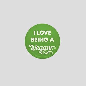 Love Being Vegan Mini Button