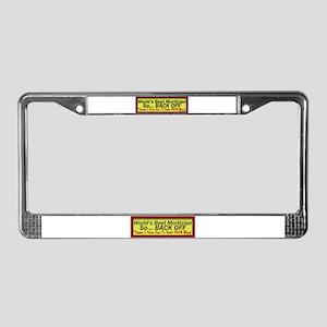 Best Mortician License Plate Frame