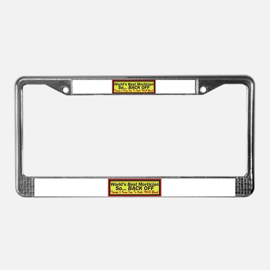 Best Mortician License Plate Frame