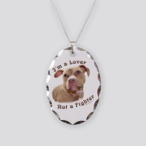 Im A Lover Necklace Oval Charm