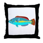 Belted Wrasse Throw Pillow
