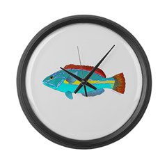 Belted Wrasse Large Wall Clock