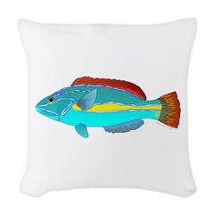 Belted Wrasse Woven Throw Pillow
