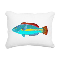 Belted Wrasse Rectangular Canvas Pillow