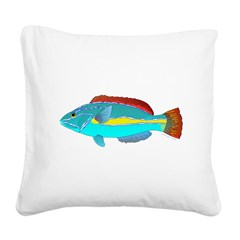 Belted Wrasse Square Canvas Pillow