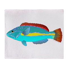 Belted Wrasse Throw Blanket